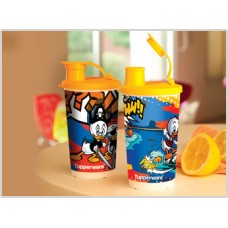 Tupperware 12 OZ TUMBLER SET OF 2(SCROOGE PRINT)