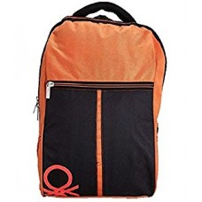 United colors of Benetton black and orange laptop backpack