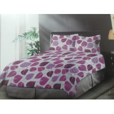 Bombay Dyeing Gold Leaf Polycotton Double Bedsheet with 2 Pillow Covers