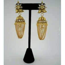 Gold alloy jewel earring