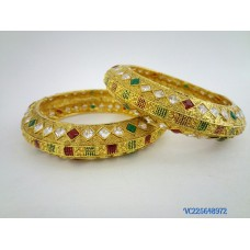 Gold Plated Multicolour Kada