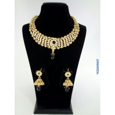 Alankruthi Antique Black Stone  Traditional Necklace