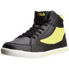 Fila Men's Black and Neon Rubber Sneakers (11000613)