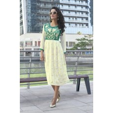 Party, Festive, Embroidered Georgette Solid Women's Kurti