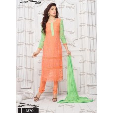 Designer Suit with Dupatta (Orange)