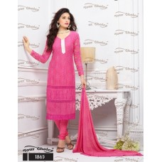 Designer Suit with Dupatta (Pink)