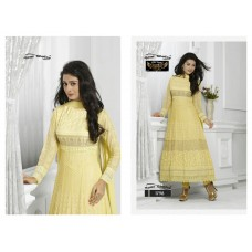 Deerham Designer Salwar Suit Dupatta Material (Light yellow)